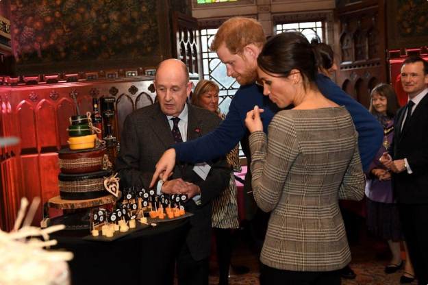 A cheese wedding cake fit for the Royals