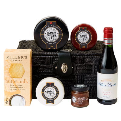 Classic Cheese and Red wine hamper - pack shot