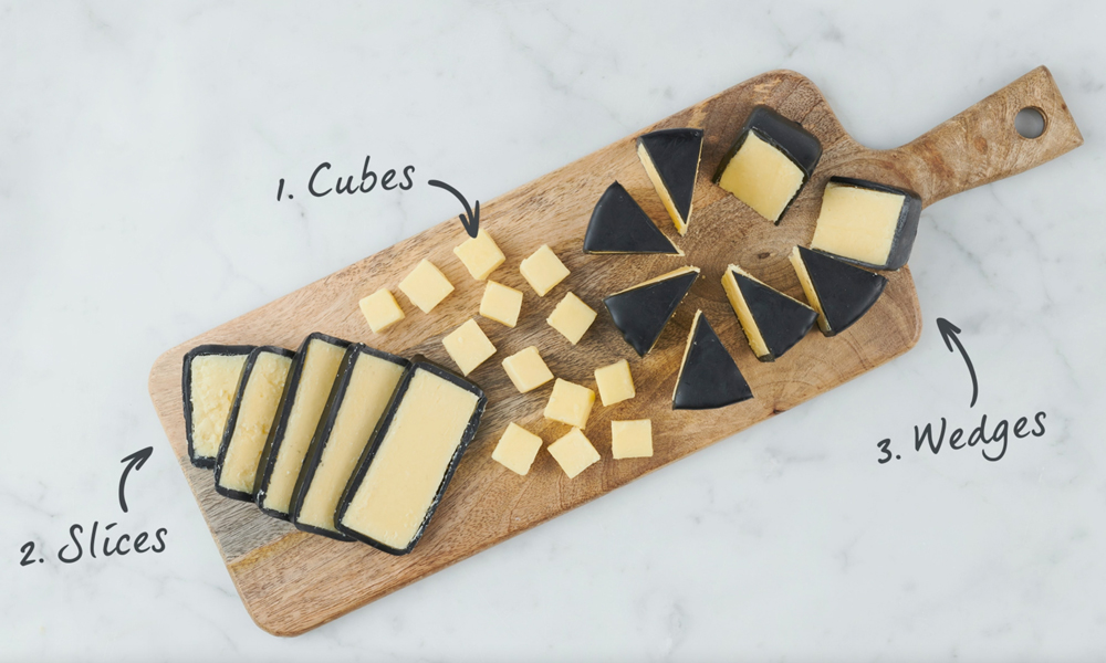 How to cut Snowdonia waxed cheeses