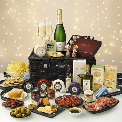 Luxury Festive Champagne Hamper from Snowdonia Cheese